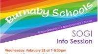 All Maywood parents are welcome to attend the SOGI (Sexual Orientation Gender Identity) information evening at Maywood on Wed. Feb. 28th at 7:00pm.  Join district staff, principals and other parents […]